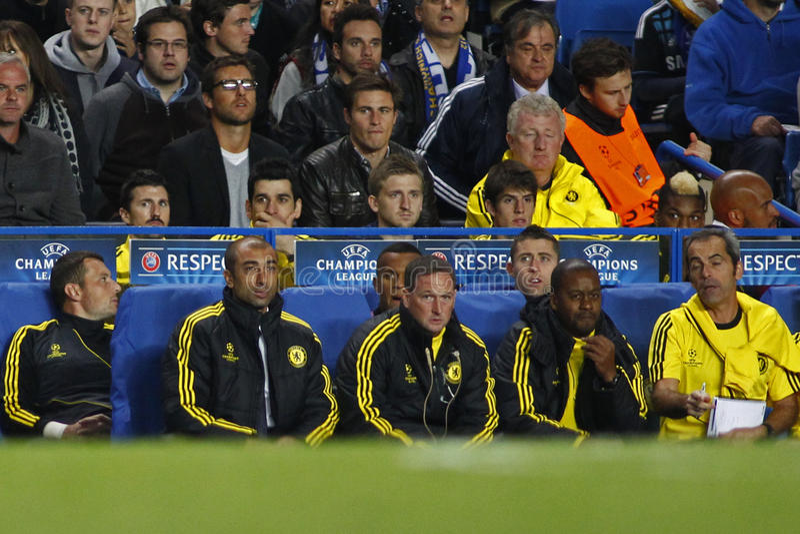 Ligue de champions d'UEFA du football Chelsea v Juventus image stock