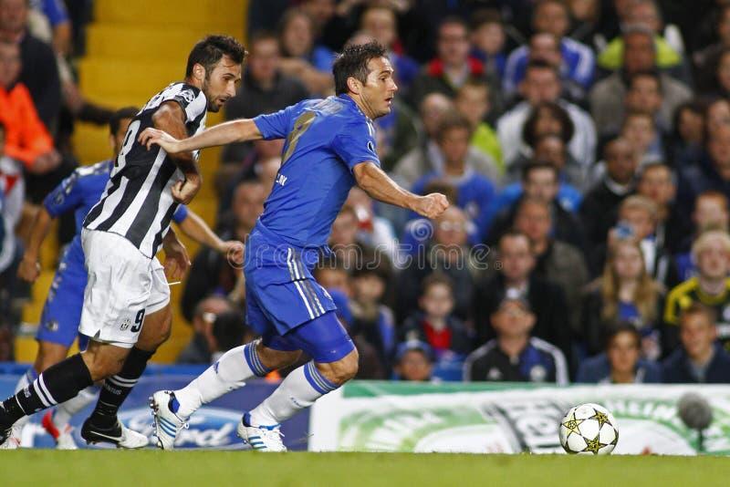Ligue de champions d'UEFA du football Chelsea v Juventus image libre de droits