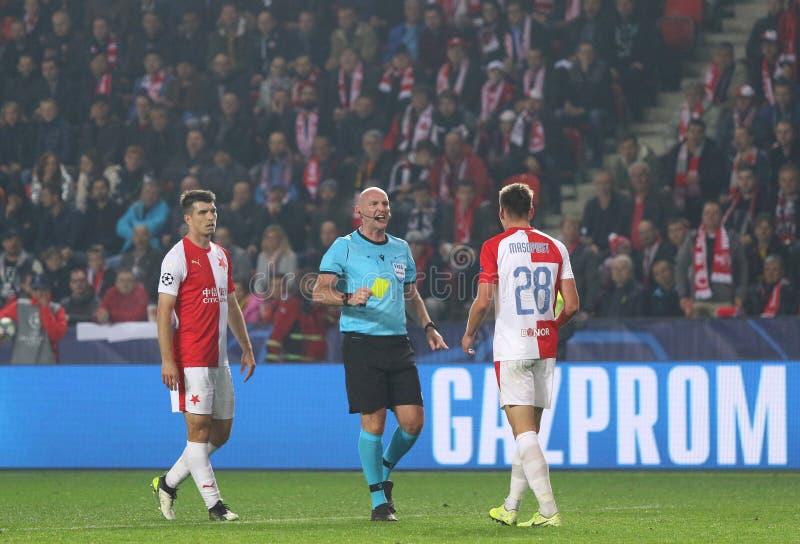 Ligue des champions de l'UEFA : Slavia Praha contre Barcelone photo stock
