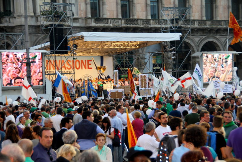 Ligue du nord Milan October 18, 2014 images libres de droits