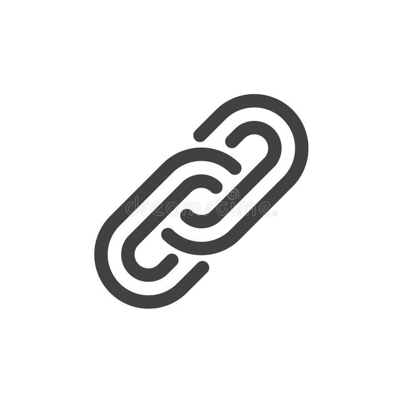 Ligue a linha ícone, sinal do vetor do esboço, pictograma linear do estilo isolado no branco ilustração royalty free
