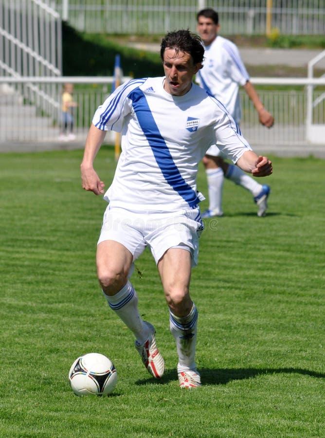 Ligue Moravian-Silésienne, joueur de football Radim Wozniak illustration de vecteur