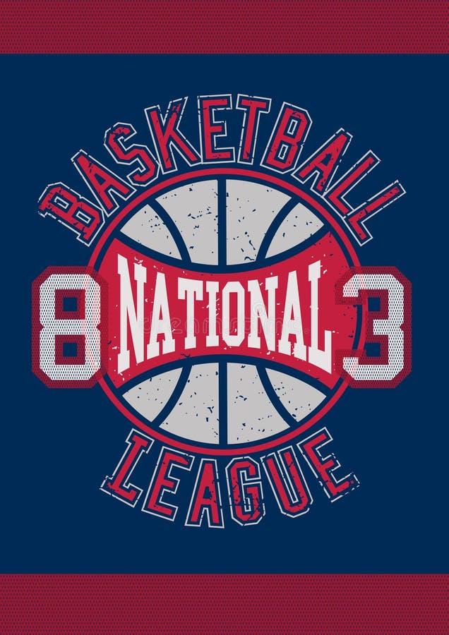 Ligue nationale 83 de basket-ball illustration de vecteur