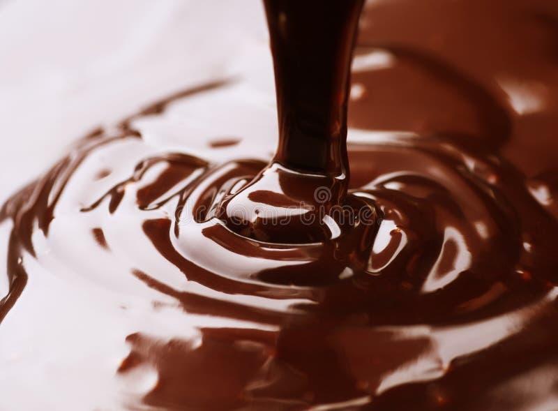 Liguid del cioccolato fotografie stock