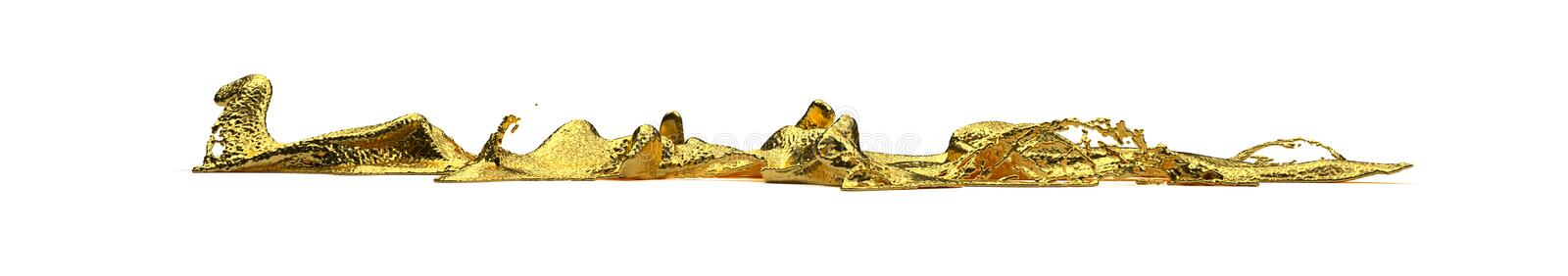 Liguid gold splash. Gold splash to the floor. path included. perfect for advertising models. save in days of sales stock photography