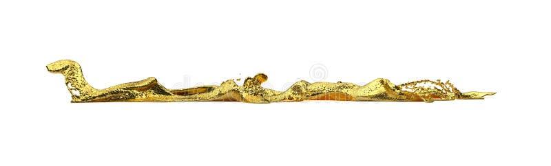 Liguid-Goldspritzen lizenzfreie stockfotos