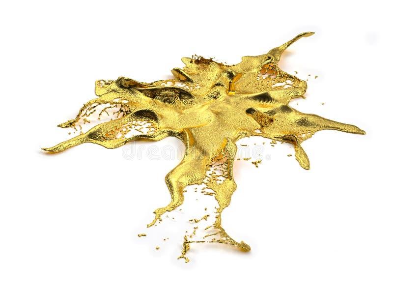 Liguid-Goldspritzen stockfotos
