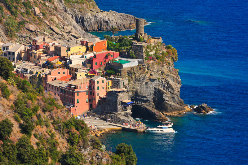 Download Liguria stock photo. Image of color, building, boat, hill - 25755212