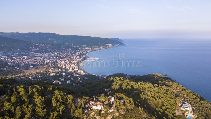 Ligurian coast of Diano Marina royalty free stock photos