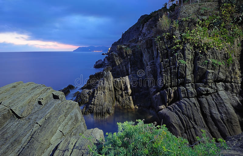 Download Ligurian rocks landscape stock photo. Image of europe - 28661544