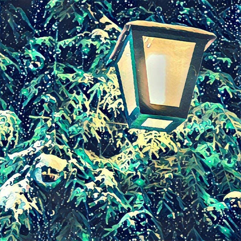 Lihgt dell'albero di Natale fotografie stock