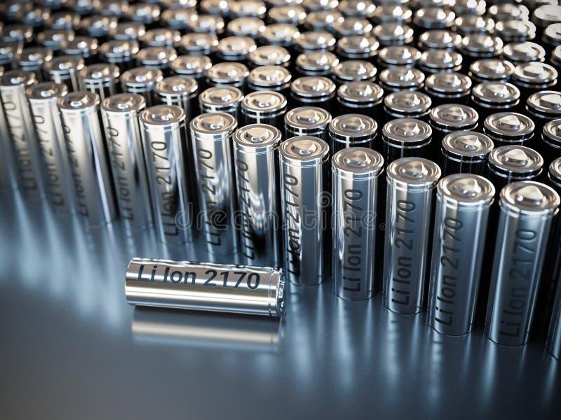 LiIon 2170 baterías de la batería imagen de archivo libre de regalías