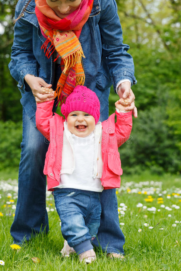 Download Liitle Girl Making Her First Steps Stock Images - Image: 21832814