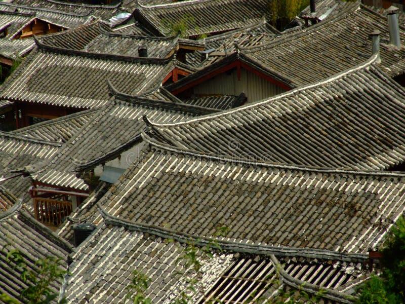 lijiang στέγες στοκ εικόνα