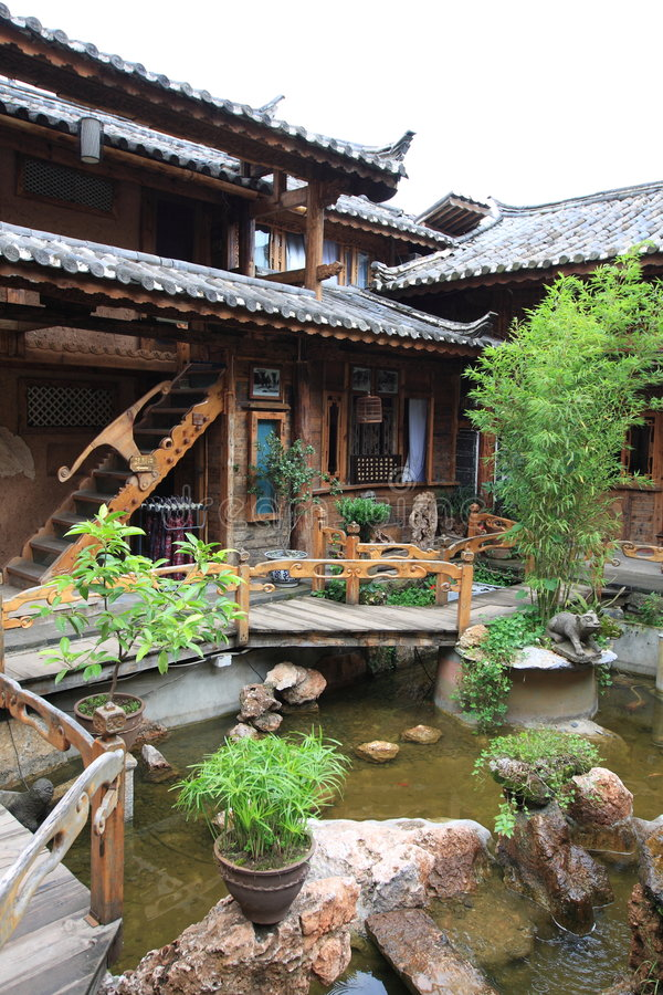 Lijiang ,a beautiful small town in china stock photos