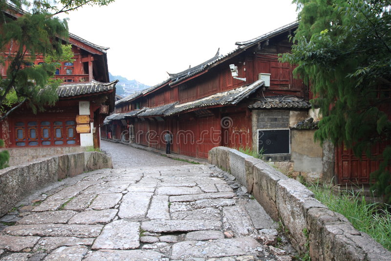 Lijiang ,a beautiful small town in china stock photos