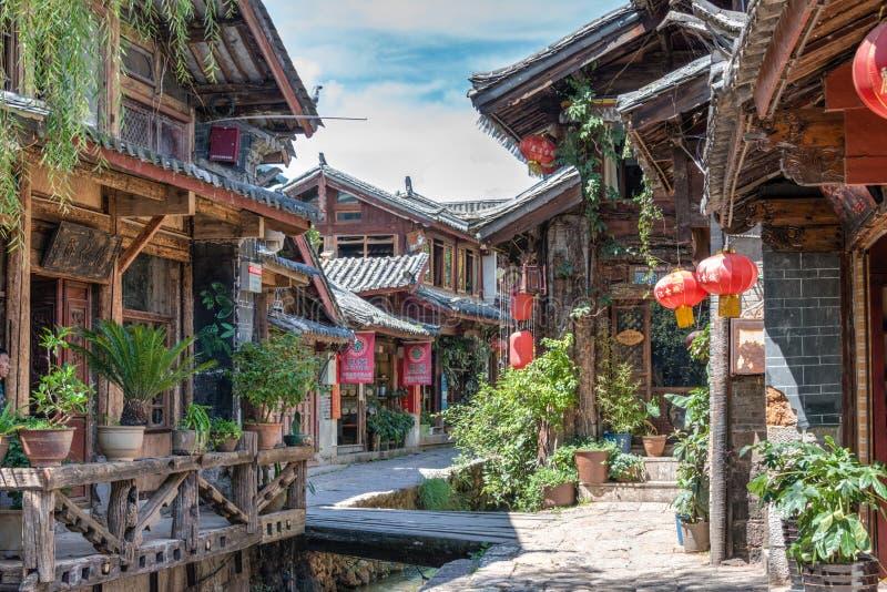 LIJIANG, CHINA - 5 DE SETEMBRO DE 2014: Cidade velha de Lijiang (mundo do UNESCO ele imagens de stock royalty free