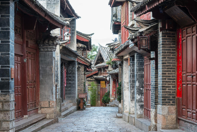 LIJIANG, CHINA - 8 DE SETEMBRO DE 2014: Cidade velha de Lijiang (mundo do UNESCO ele foto de stock royalty free