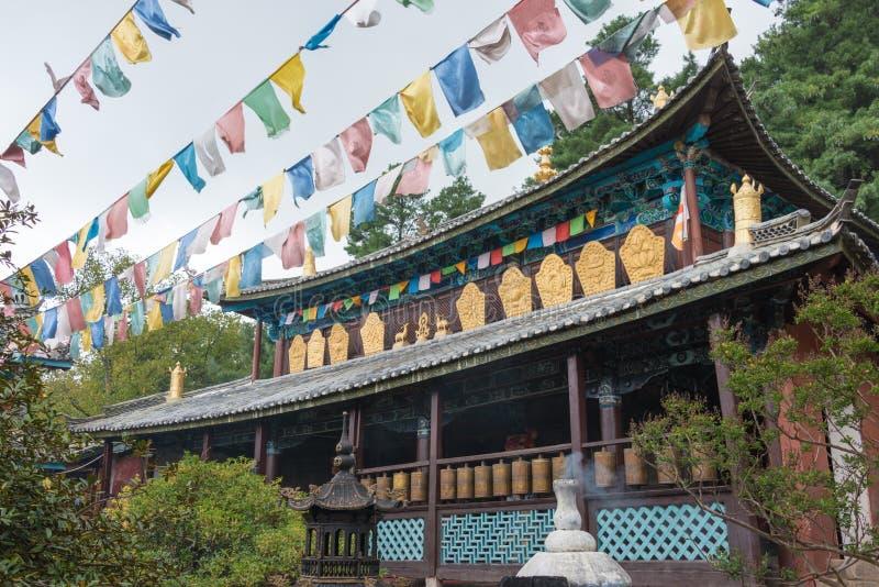 LIJIANG, CHINA - 6 DE SETEMBRO DE 2014: Lamasery de Yufeng um monastério famoso imagem de stock royalty free