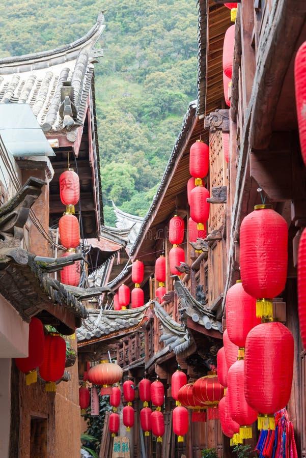 LIJIANG, CHINA - 6 DE SETEMBRO DE 2014: Town& velho x28 de Shuhe; Heritag do mundo do UNESCO fotos de stock royalty free