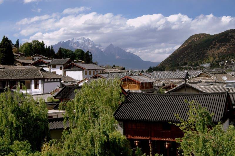 Lijiang, China: Oude Huizen Naxi royalty-vrije stock foto's