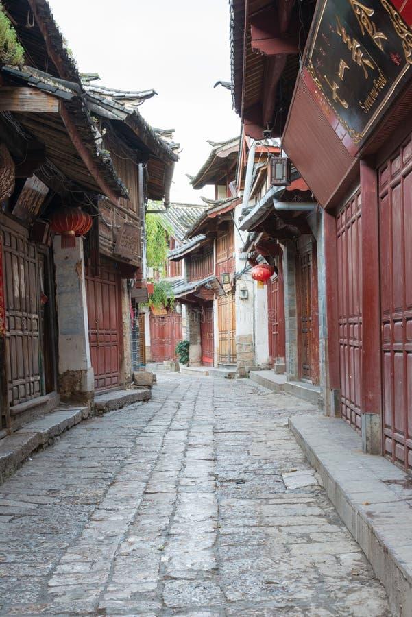 LIJIANG, CINA - 8 SETTEMBRE 2014: Città Vecchia di Lijiang (mondo dell'Unesco lui immagini stock