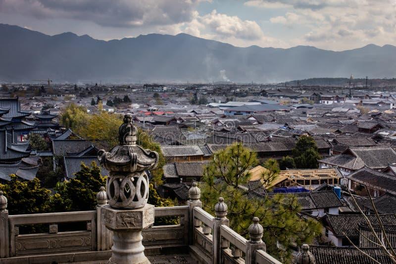 Lijiang Horizan von MU-Palast lizenzfreies stockfoto