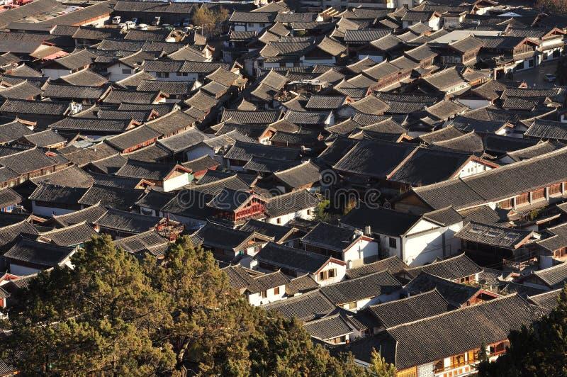 Lijiang old town roofs. Yunnan, China