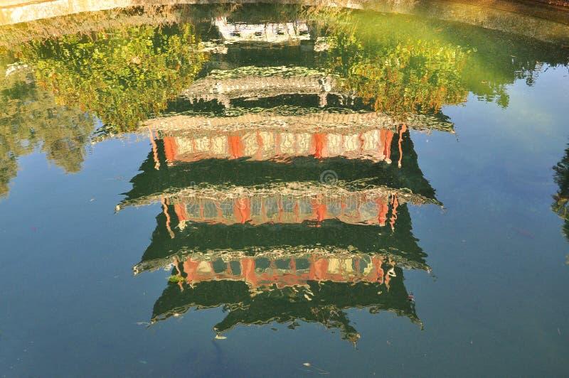 Download Lijiang Pavilion Reflection. Yunnan, China Stock Photo - Image: 28787864