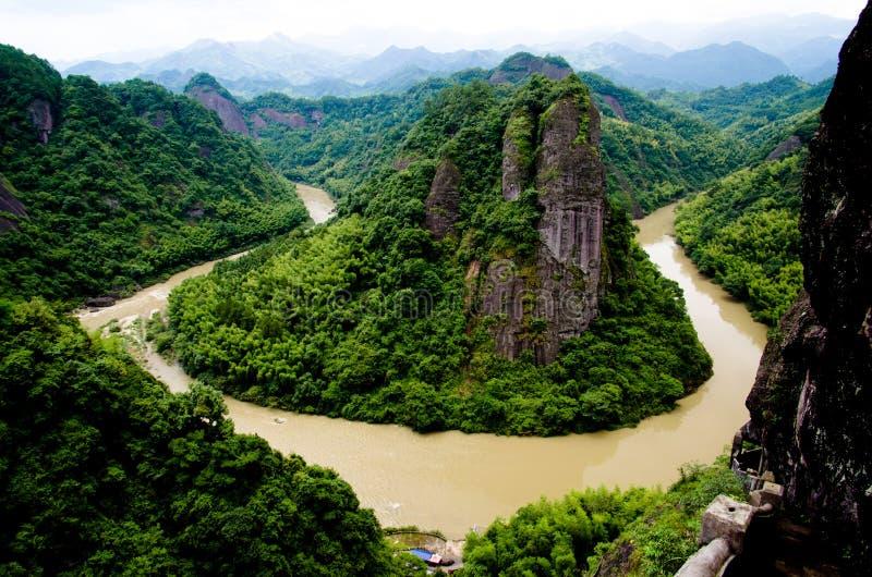 Lijiang River Corner. Lijiang River has a Corner of Tianmen Mountain in Guilin,the Guangxi Zhuang Autonomous Region of China stock image