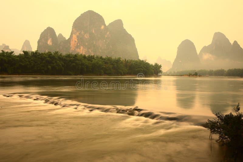 Lijiang river ,Guilin. The Lijiang river at Guilin China royalty free stock photography