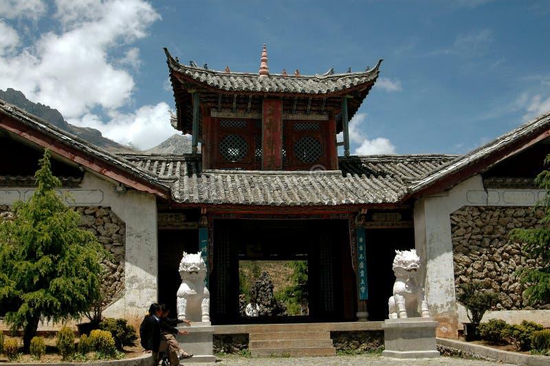 Lijiang Twp, Chine : Village en pierre de Ju Zhu Qing Tian photos stock