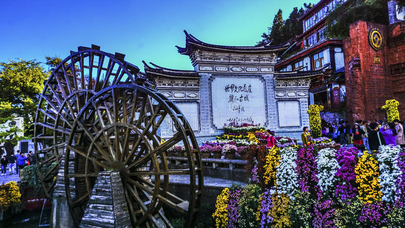 Lijiang in Yunnan, China. Old Town of Lijiang, also known as Dayan, is located in the town of Lijiang City, Yunnan Province, is a beautiful scenery, long history royalty free stock photo
