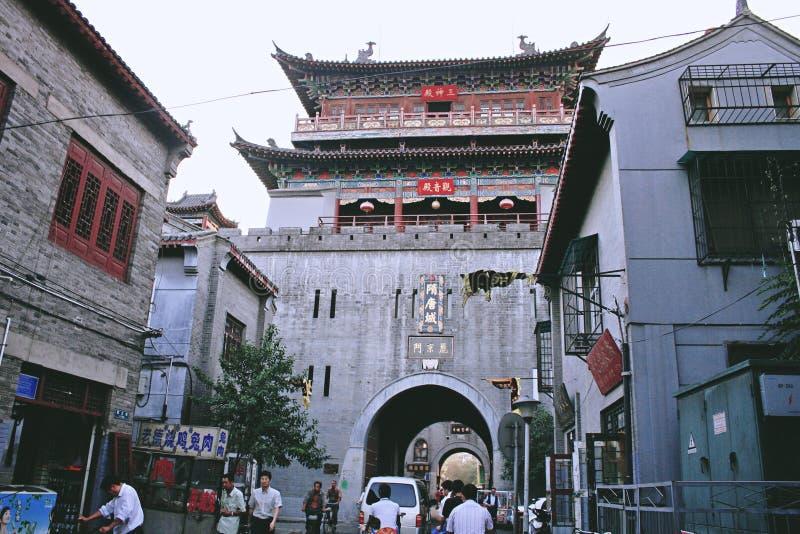 Lijing port av den forntida staden av Luoyang royaltyfri fotografi