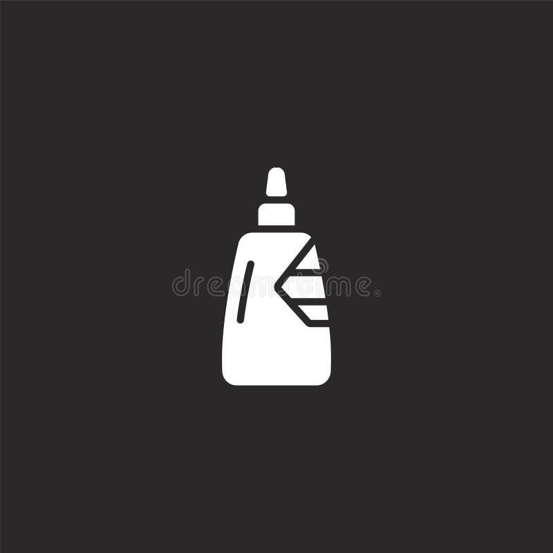 Lijmpictogram Gevuld lijmpictogram voor websiteontwerp en mobiel, app ontwikkeling lijmpictogram van gevulde geïsoleerde timmerwe vector illustratie
