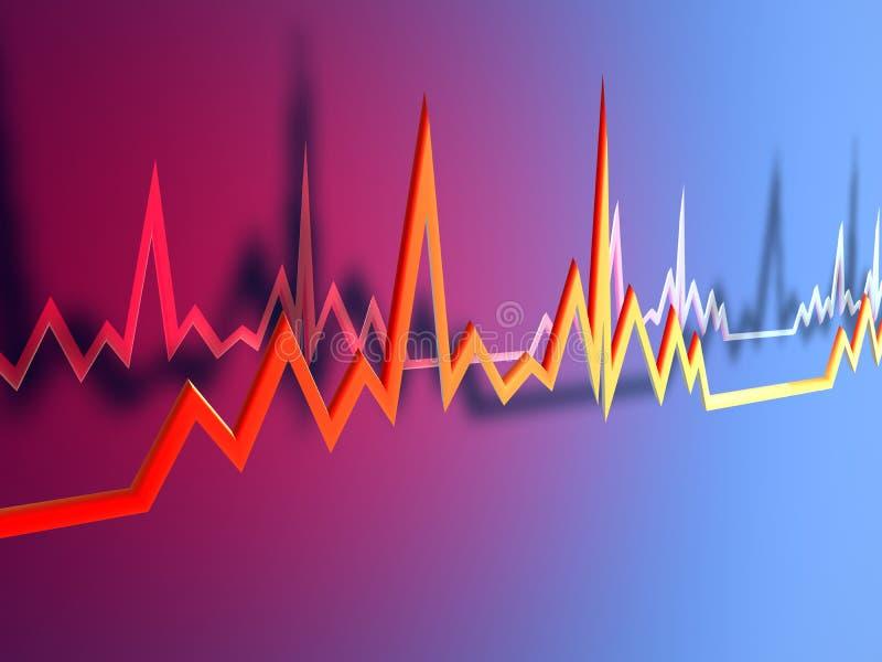 Lijn 1 van het electrocardiogram royalty-vrije illustratie