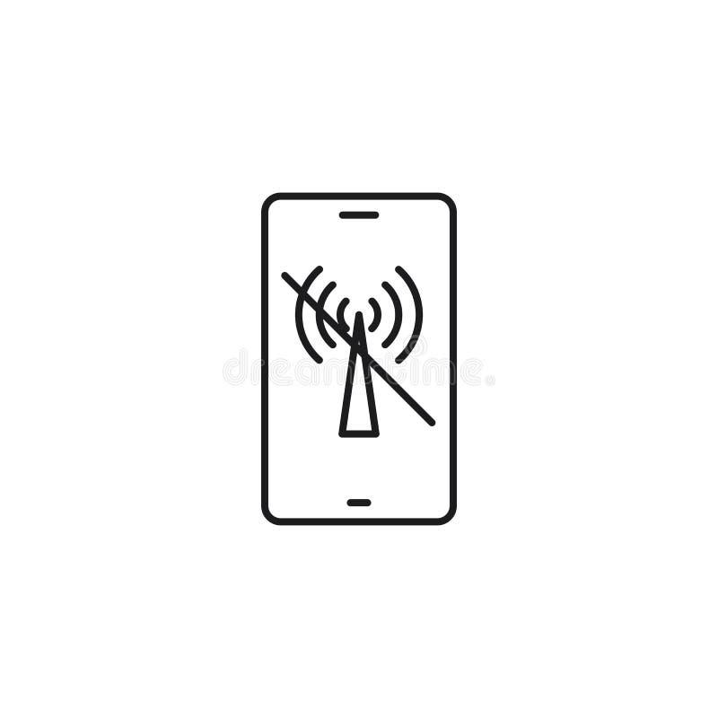 Lijn Geen illustratie van de Netwerkdekking op witte achtergrond stock illustratie