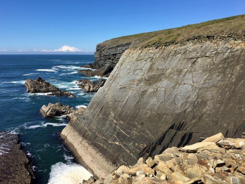 Lijn Hoofdschiereiland, Provincie Clare, Ierland royalty-vrije stock afbeelding