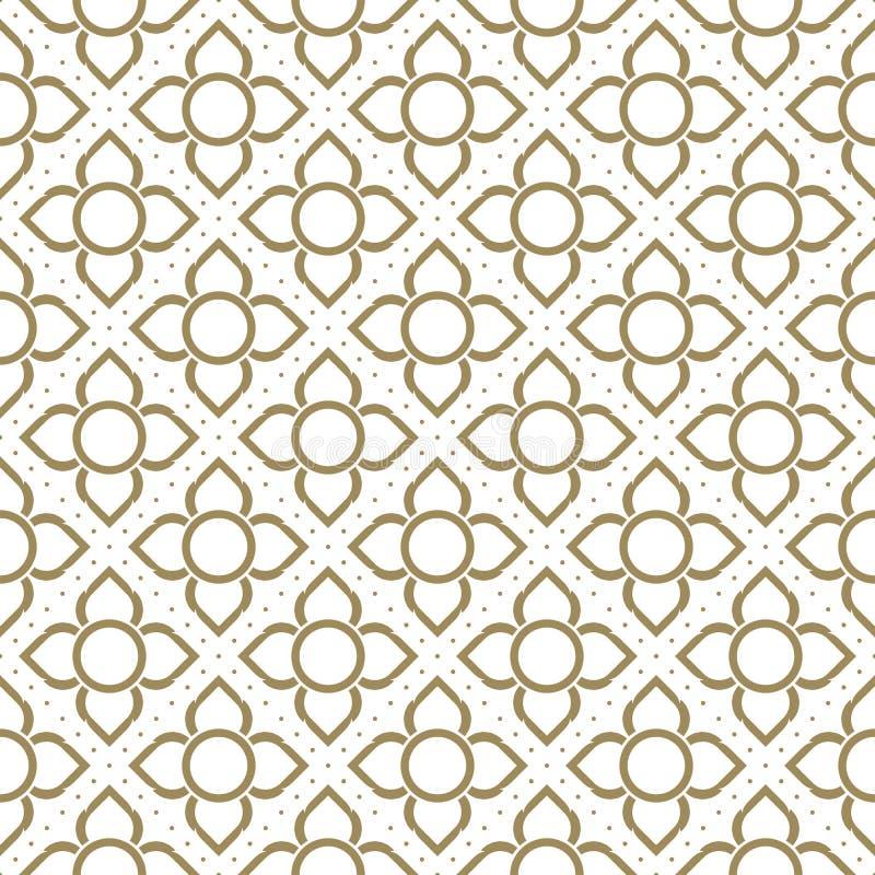 Lijn Thais traditioneel naadloos patroon royalty-vrije illustratie
