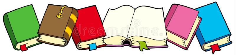 Lijn van boeken vector illustratie