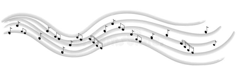 Lijn van muziek vector illustratie