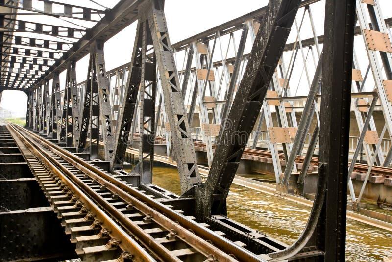 Lijn van spoorweg stock foto's