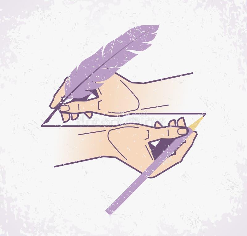Lijn van Tijden stock illustratie