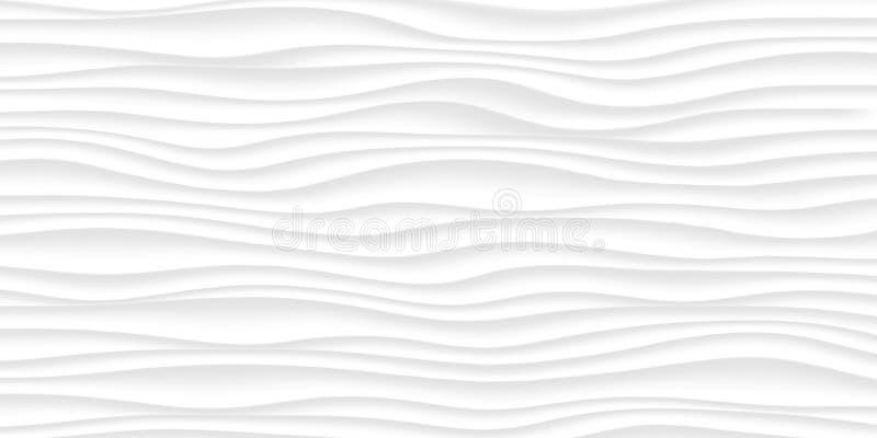 Lijn Witte textuur grijs abstract naadloos patroon golf golvend Na royalty-vrije stock afbeelding