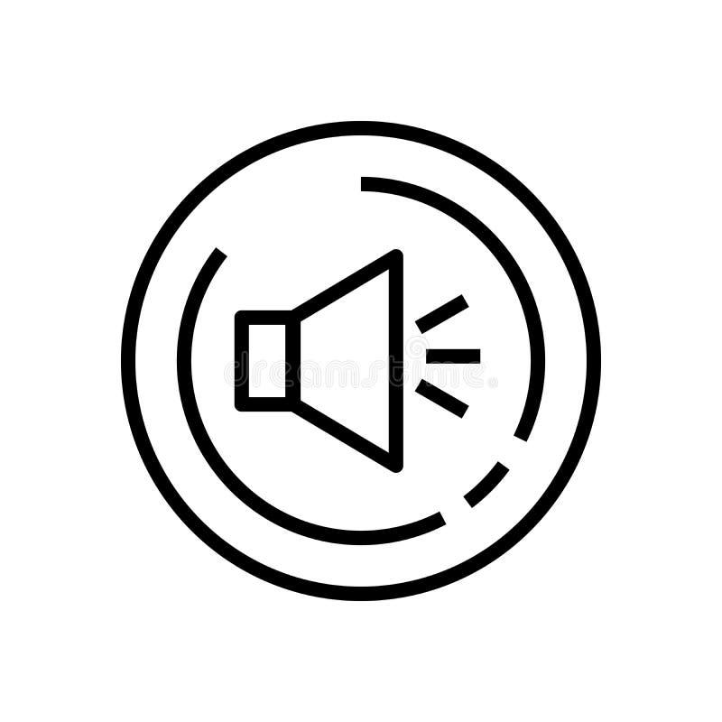 Lijnart. Volume op correcte pictogramvector vector illustratie