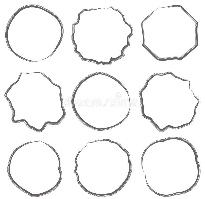 Lijncirkel van tekstvakje reeks vector illustratie