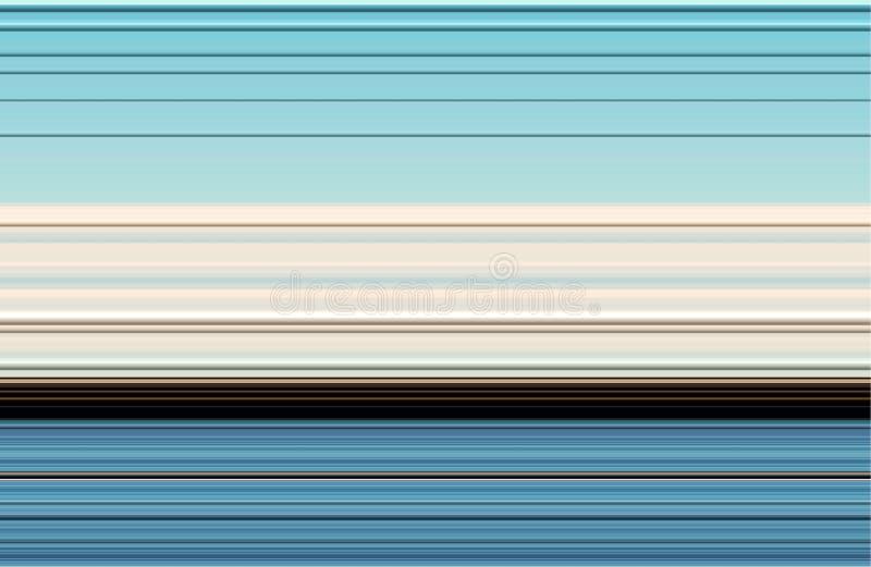 Lijnen in blauwe witte bruine tinten, abstract lijnenpatroon vector illustratie