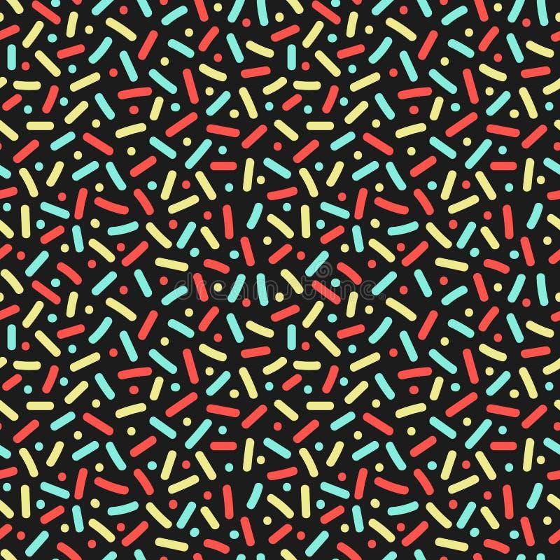 Lijnen en punten Naadloos patroon in de stijl van Memphis stock illustratie