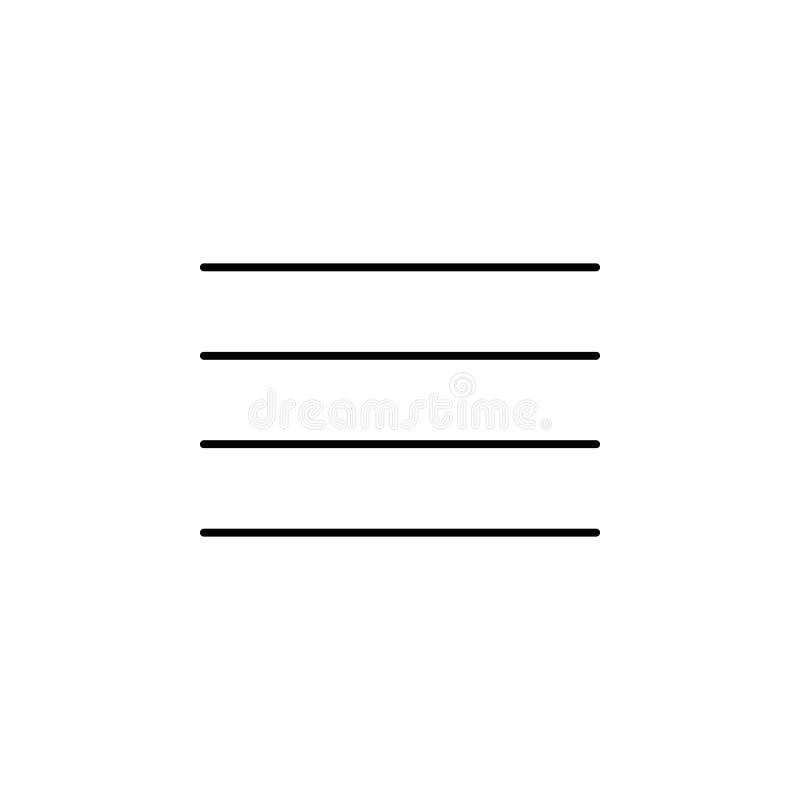 lijnenpictogram Element van eenvoudig pictogram in materiële stijl voor mobiel concept en Web apps Dun lijnpictogram voor website vector illustratie