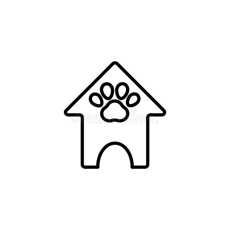 Lijnpictogram Cabines voor honden, Dierenhuis vector illustratie